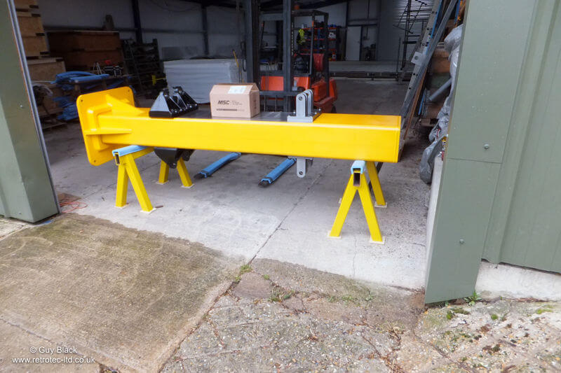 Wing to Fuselage Attachment Jig ready for Delivery to Airframe Assemblies who are Rebuilding the Wing.